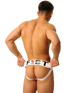 Fist Logo Jock •  White