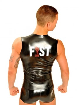 Fist Rubber Front Zip Sleeveless T-Shirt