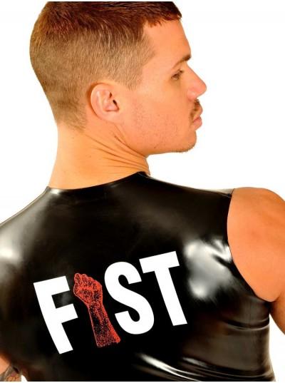 Fist Rubber Front Zip Sleeveless T-Shirt