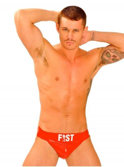 Fist Rubber Jock • Red • Front Logo