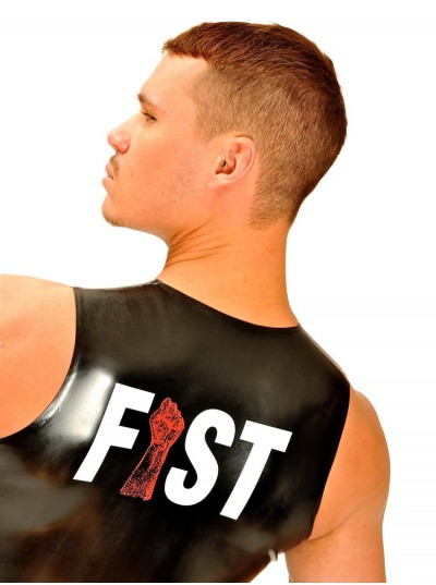 Fist Rubber Muscle Sleeveless T-Shirt