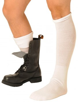 Fist Boot Socks • White