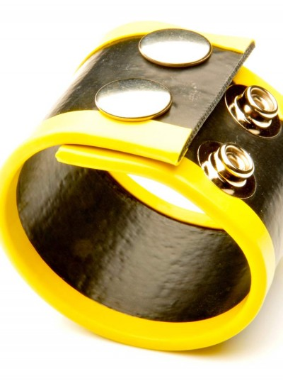 Small Rubber Ball Stretcher • Yellow
