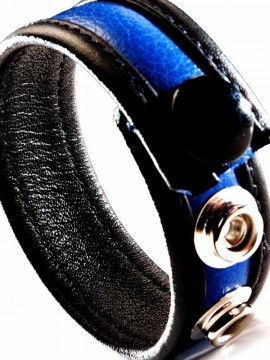 Leather Cock Strap • Blue