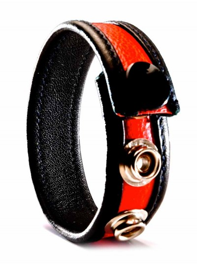 Leather Cock Strap • Red