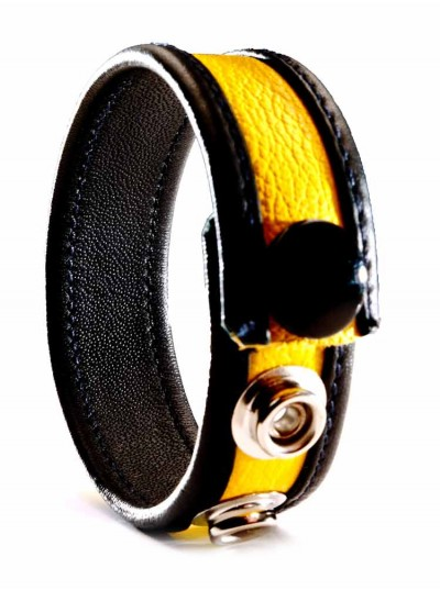 Leather Cock Strap • Yellow