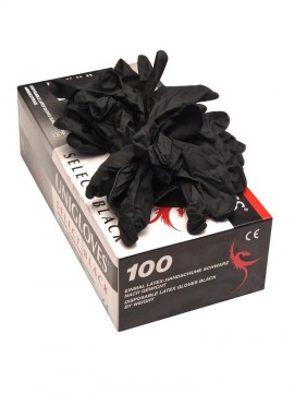 Latex Gloves x100 • Black