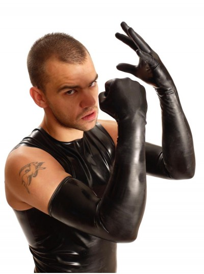 Shoulder Rubber Gloves • Black