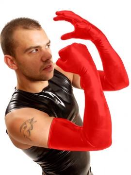 Shoulder Rubber Gloves • Red