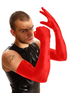 Shoulder Rubber Gloves • Red