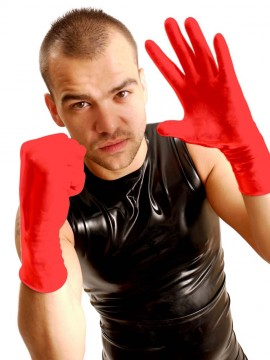 Wrist Rubber Gloves • Red