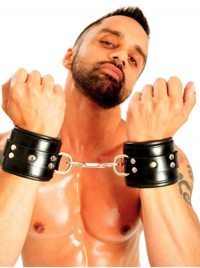 Fist Leather Wrist Cuffs • Black